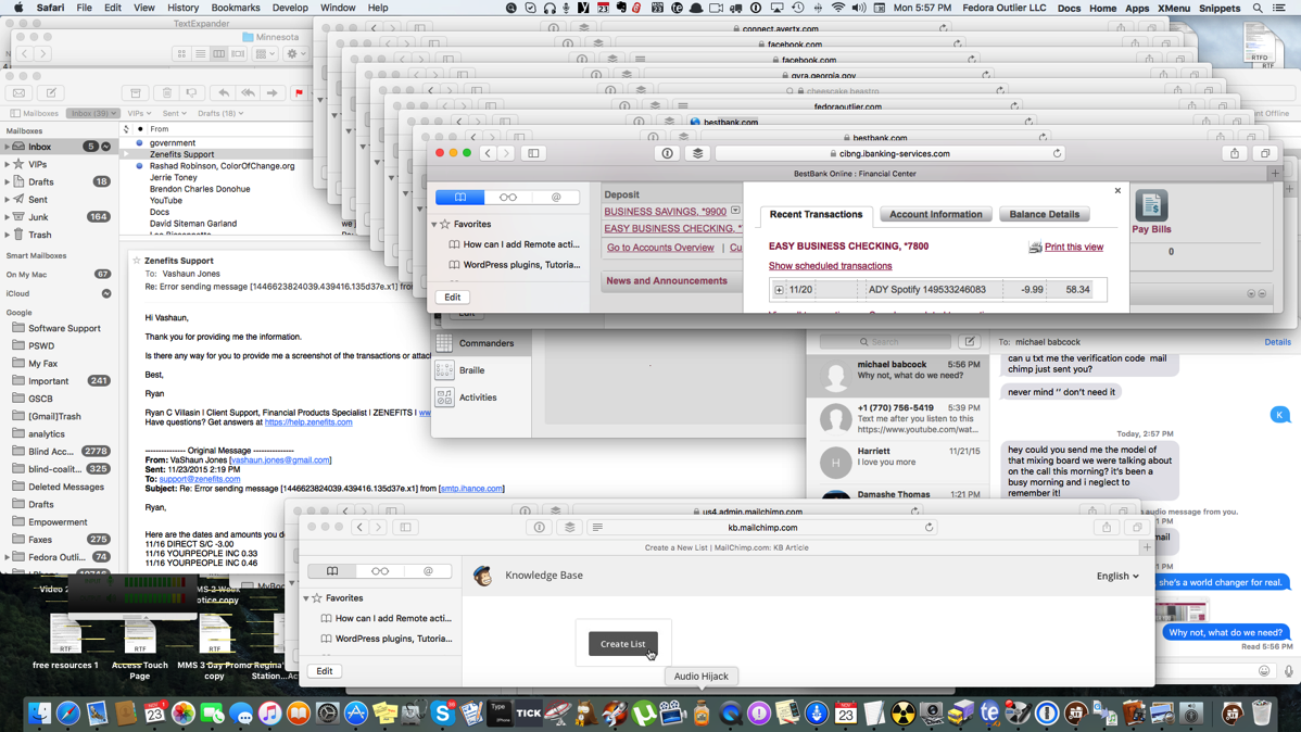 Screenshot of the Finder on the Mac