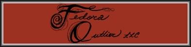 The better than excellent Fedora Outlier LLC black and orange bespoke logo