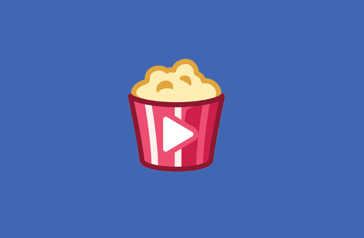 The Facebook watch party logo.  A picture of popcorn with a play button.